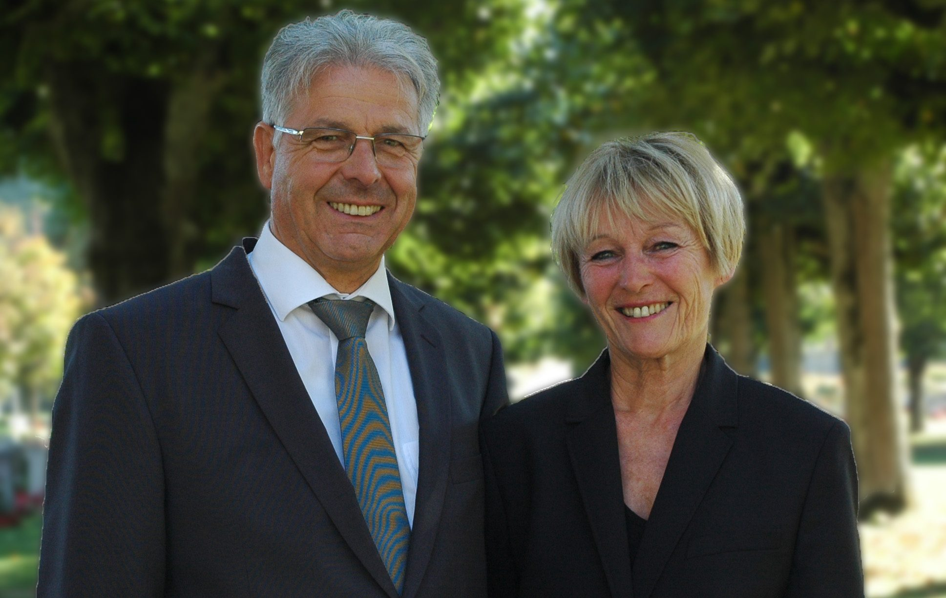 Portrait von Franz und Susann Latrtrell